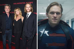 Wyatt Russell in Falcon and the winter soldier/with his parents