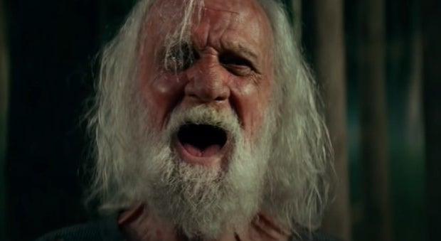 Old man screaming
