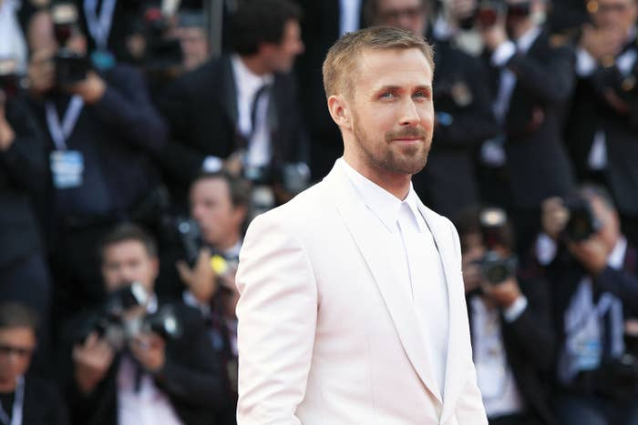 """Ryan Gosling at the premiere of """"First Man"""" in 2018"""