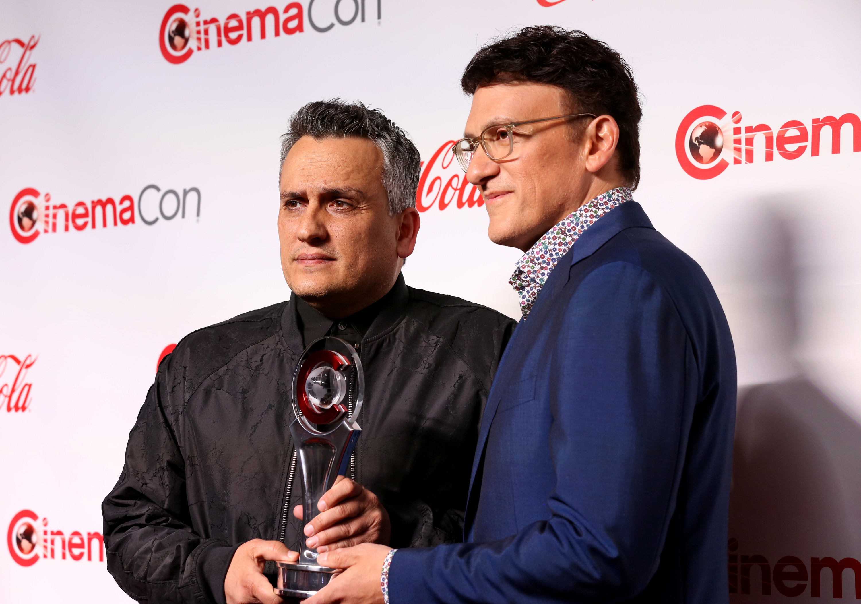 Joe and Anthony Russo receiving an award