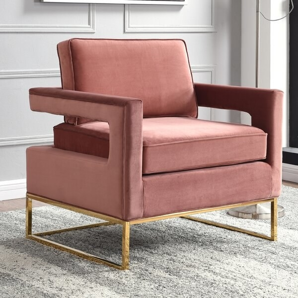 The chair in pink