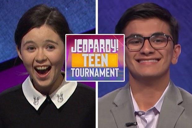 Jeopardy teen tournament contestants