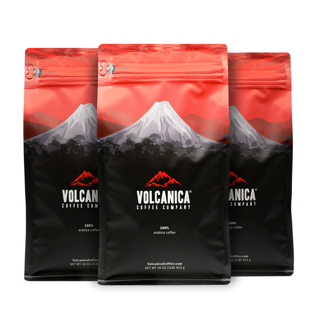 three bags of coffee