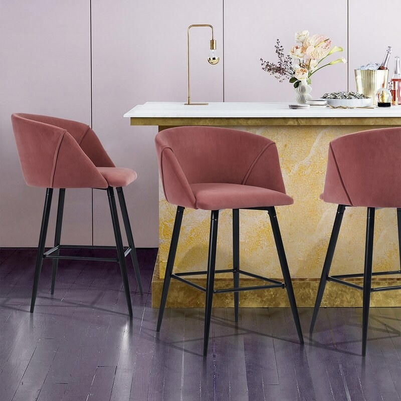 The stools in Rose