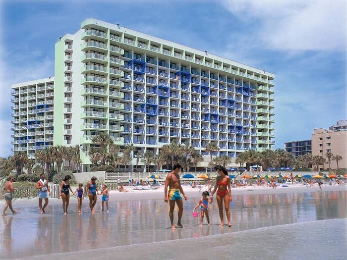 The hotel on the beach