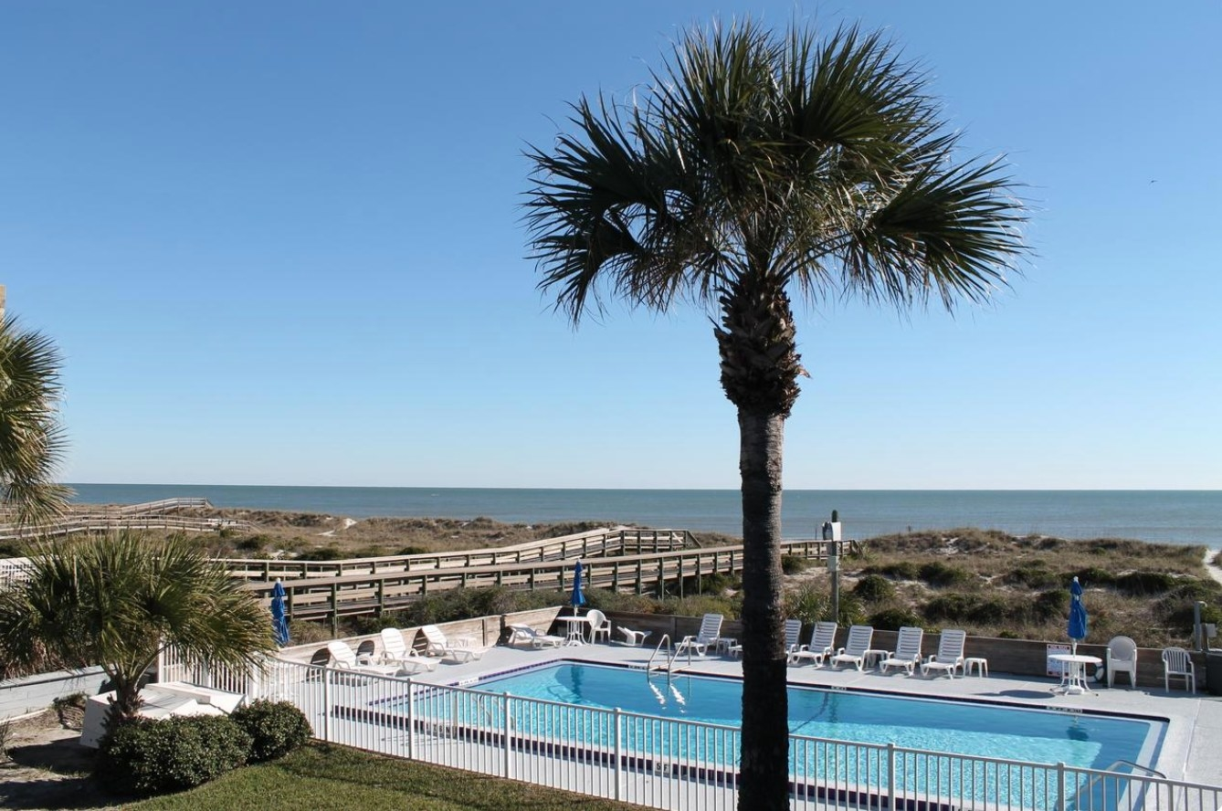 The pool at the beachside motel