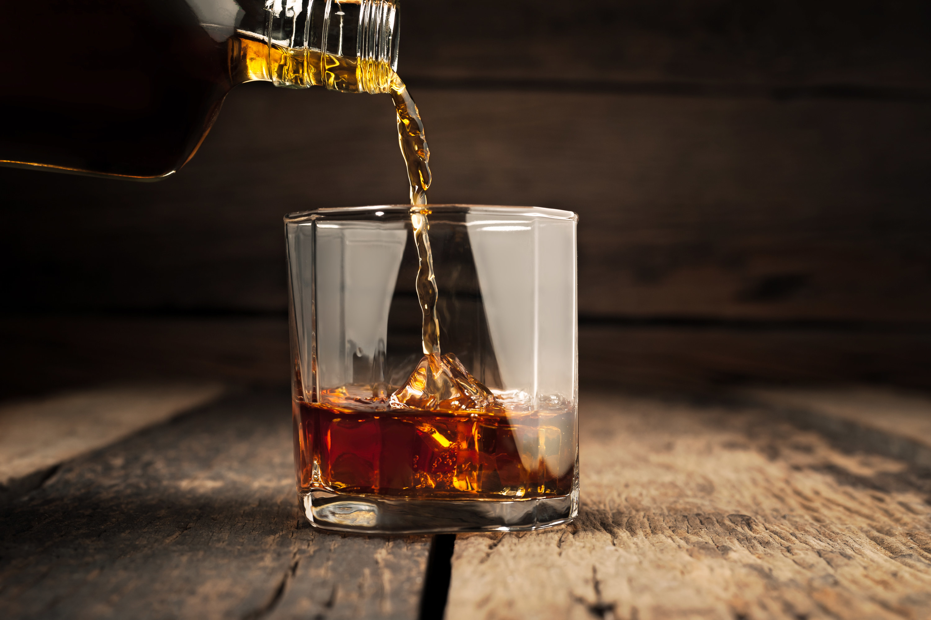 Photo of a glass of whiskey