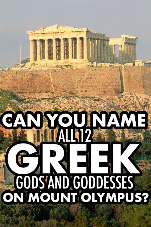 Can you name all 12 Greek gods and goddesses on Mount Olympus?