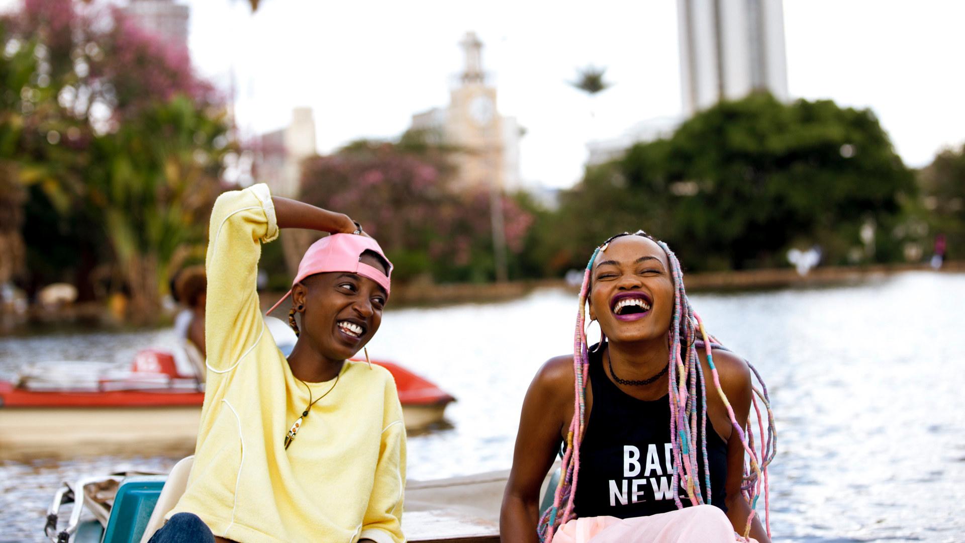 Kena and Ziki laughing
