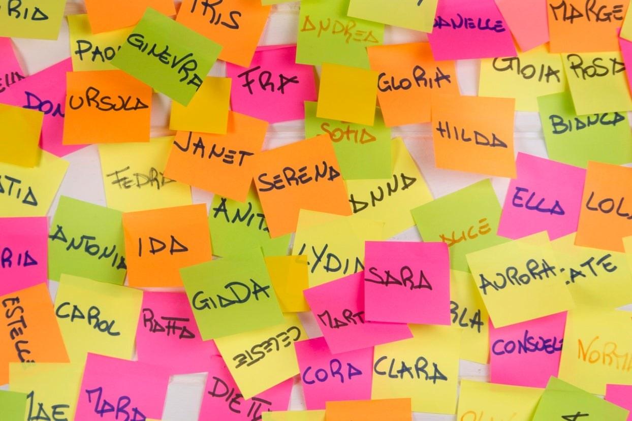 Names on sticky notes