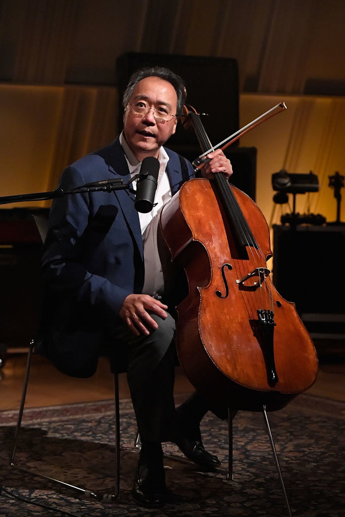 Yo-Yo Ma with his cello