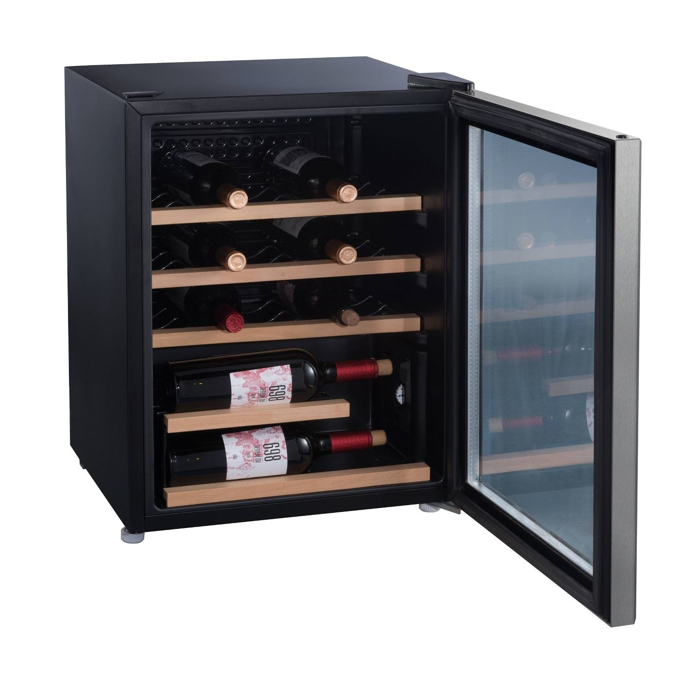 The stainless steel wine fridge