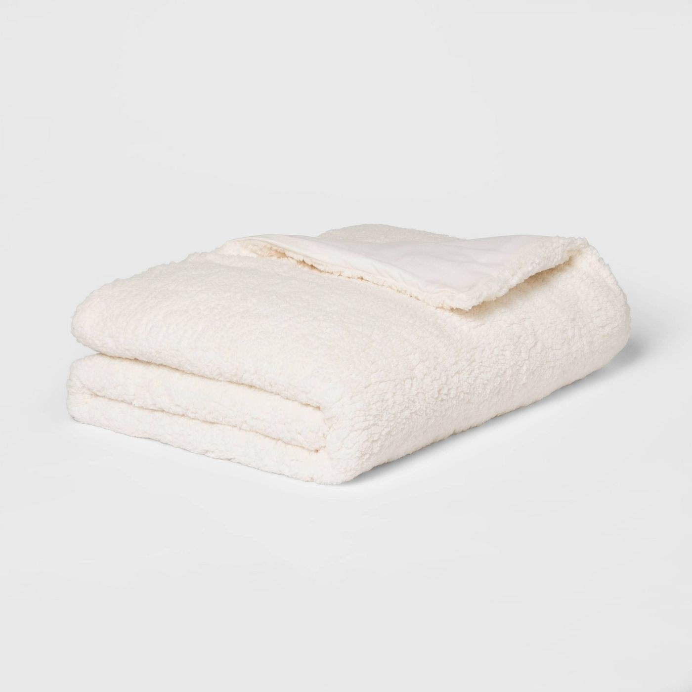 The ivory sherpa weighted blanket