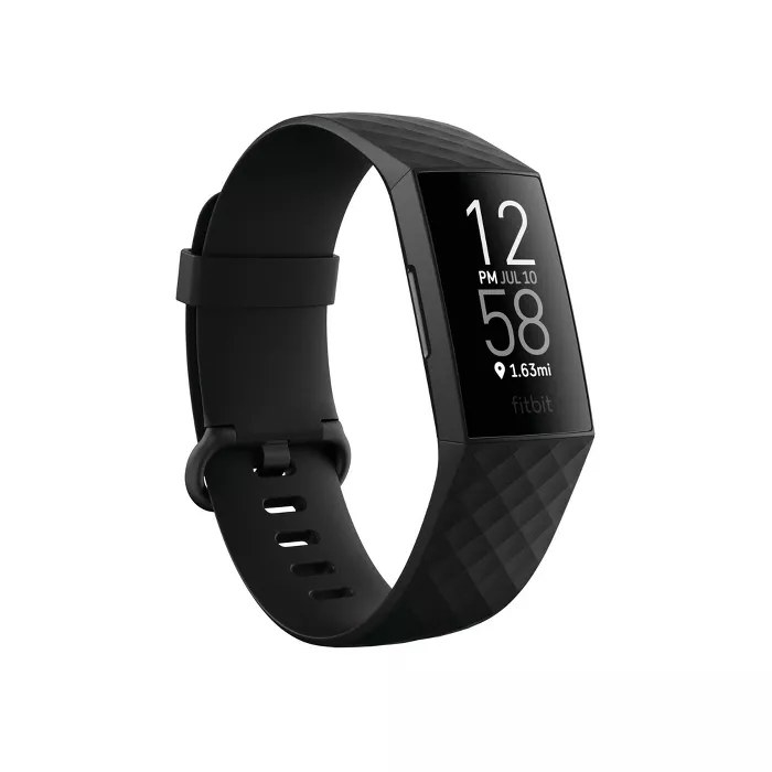 The black Fitbit