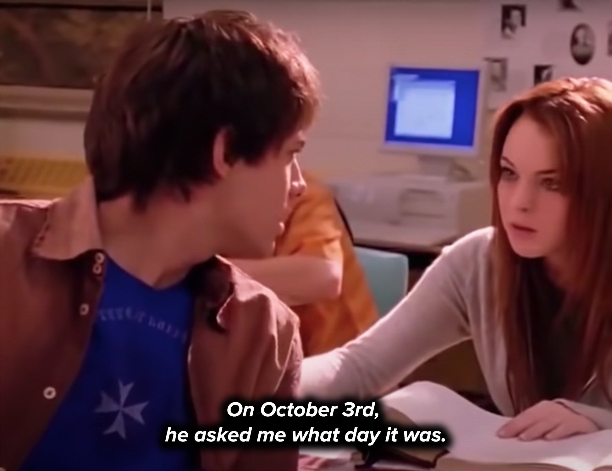 On Oct 3rd, he asked her what day it was