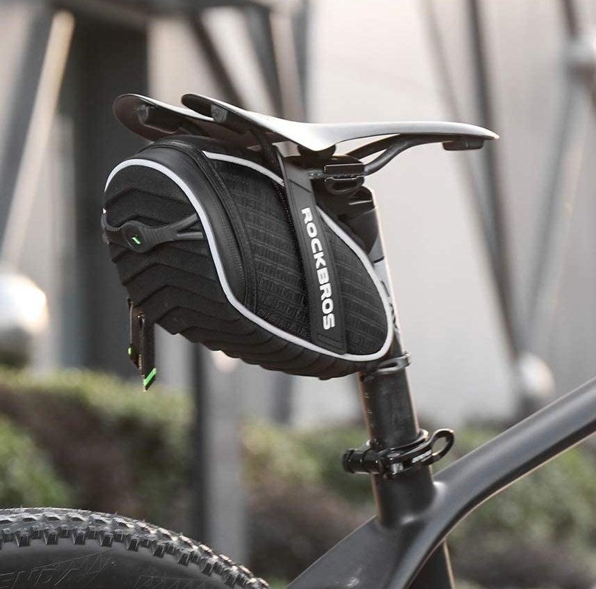 The bag on a bike frame