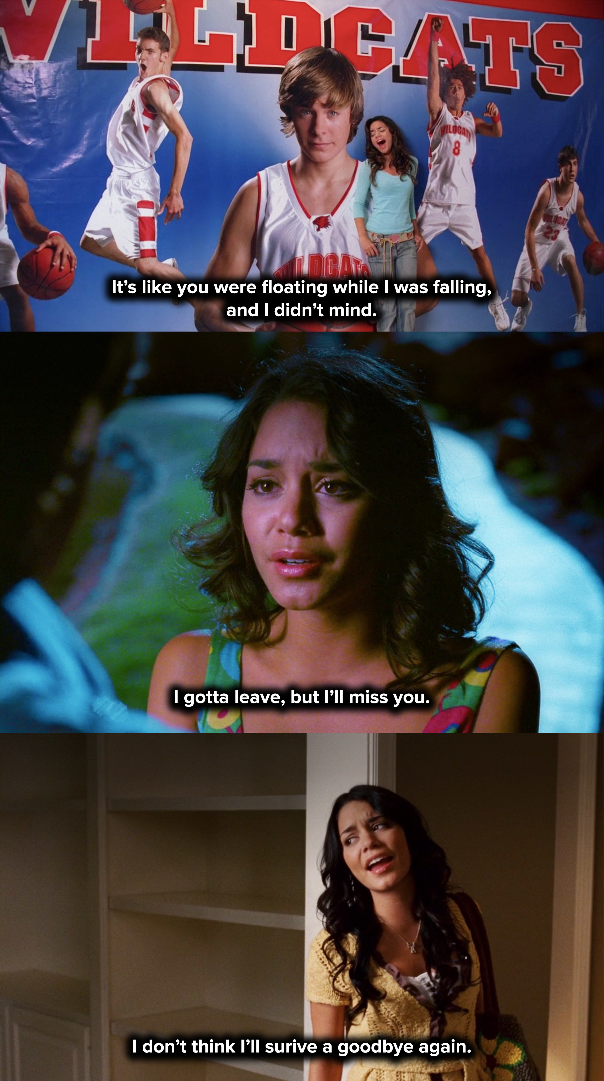 Gabriella sang a breakup song in every single movie