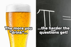 A glass of beer and a pi symbol