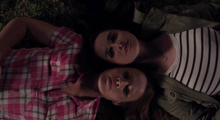 """Katie Leclerc as Daphne Paloma Vasquez and Vanessa Marano as Bay Madeline Kennish in the show """"Switched at Birth."""""""