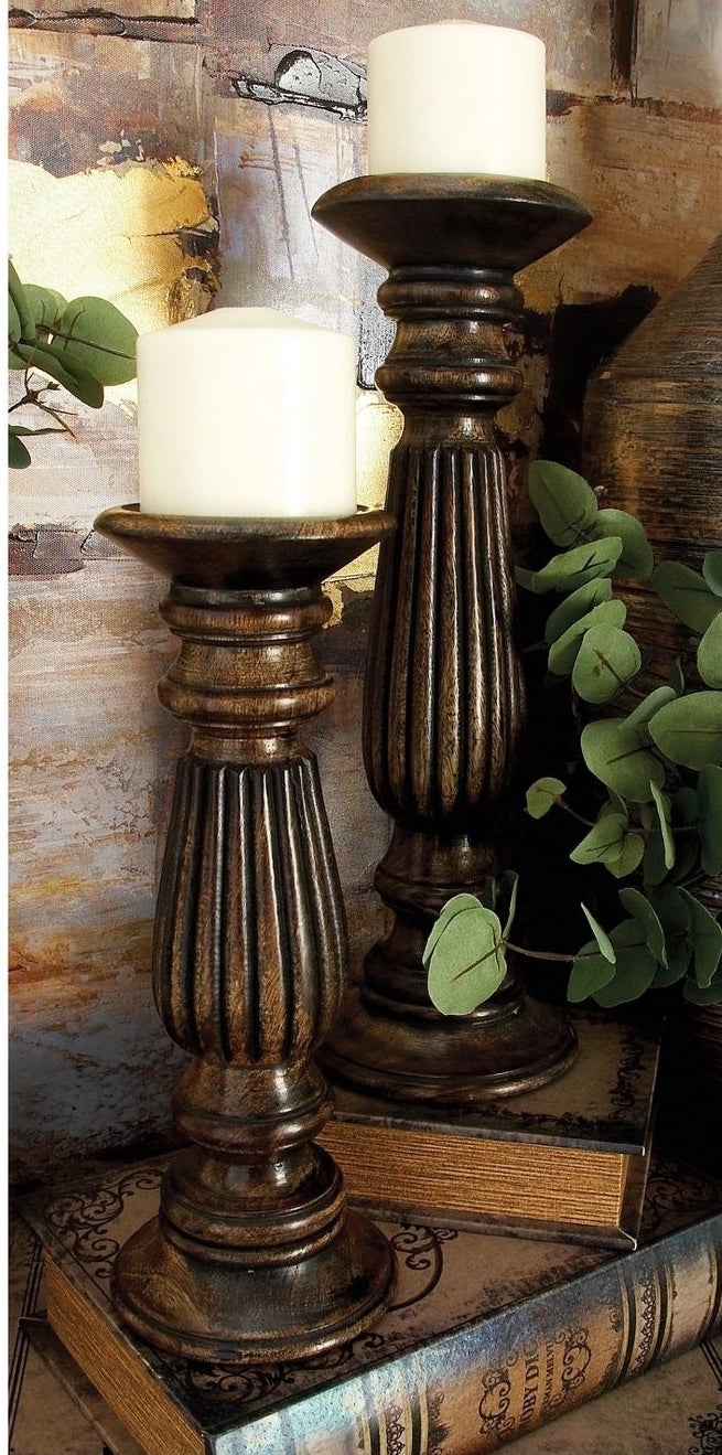 Candle holder in a home