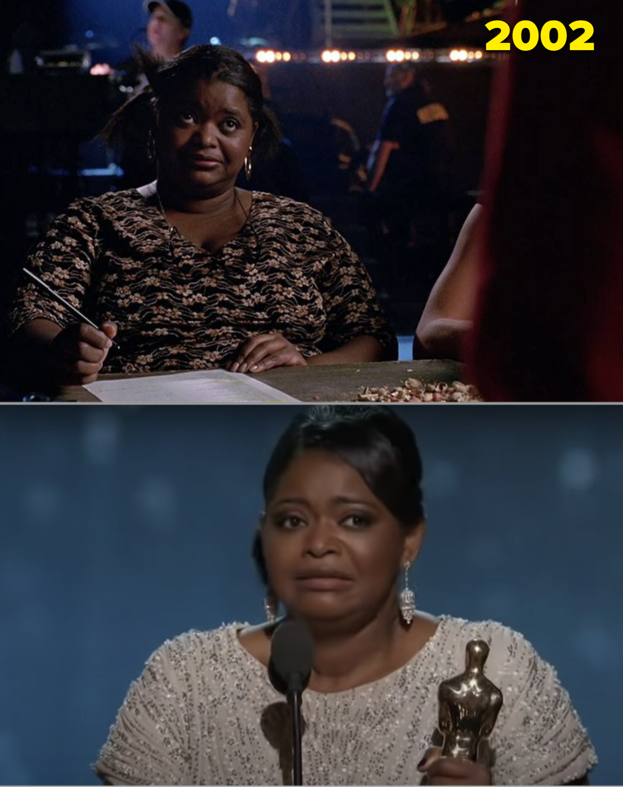 """Octavia in """"Spider-Man"""" and accepting her Oscar"""