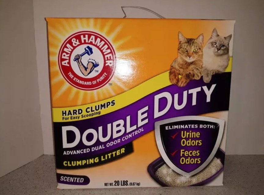 The double duty odor eliminating litter