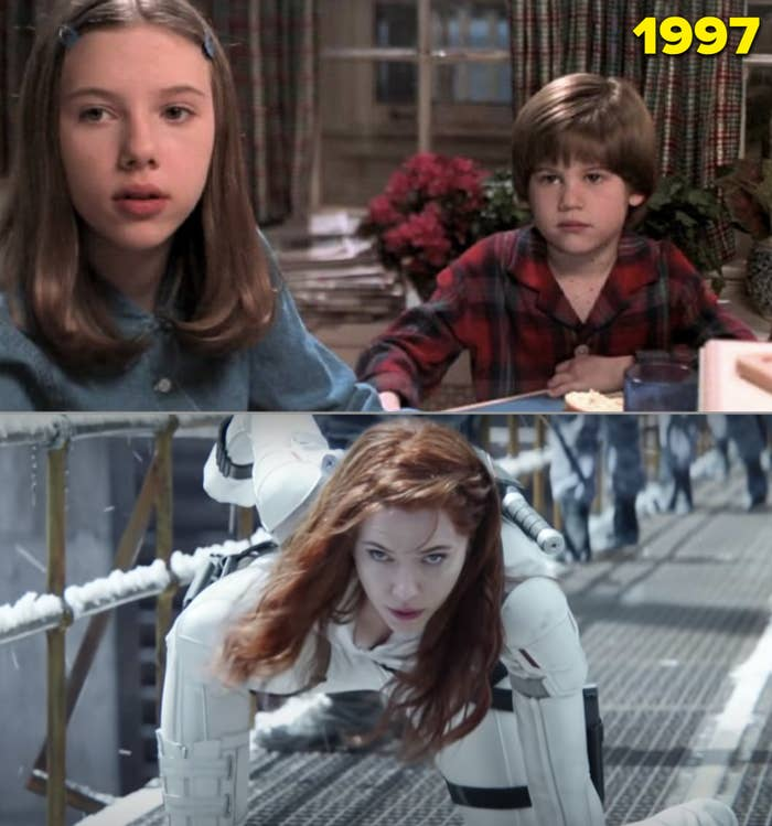 """ScarJo in """"Home Alone 3"""" and as Black Widow in the newest movie trailer"""