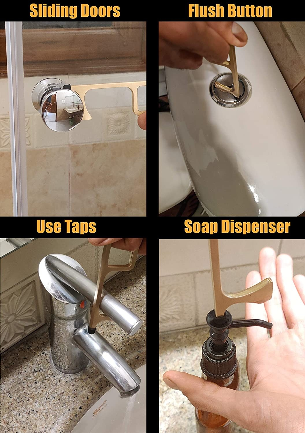 The key used to slide doors, dispense soap, operate taps and flushes.