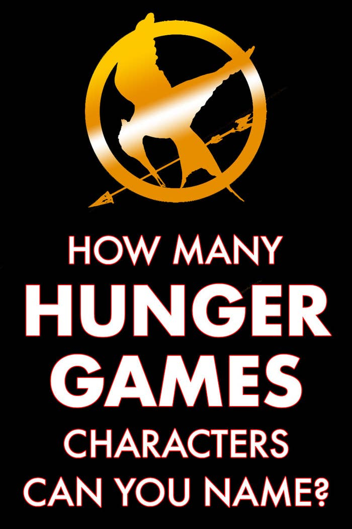 How many Hunger Games characters can you name?