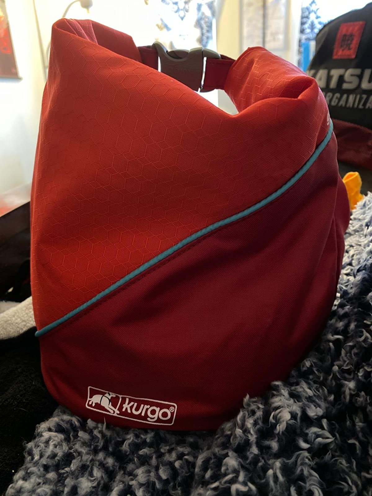 The bag, which has a nylon outer shell