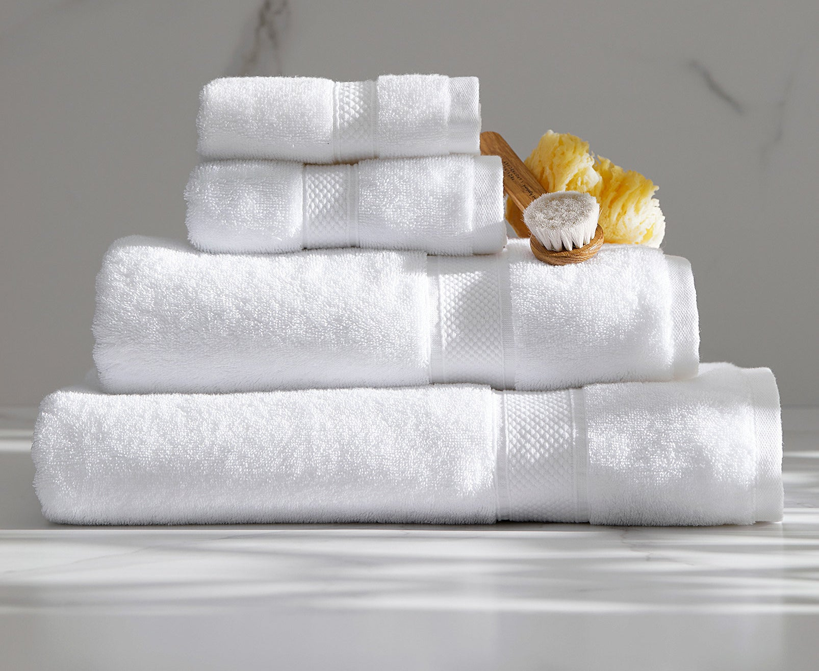 A stack of folded towels