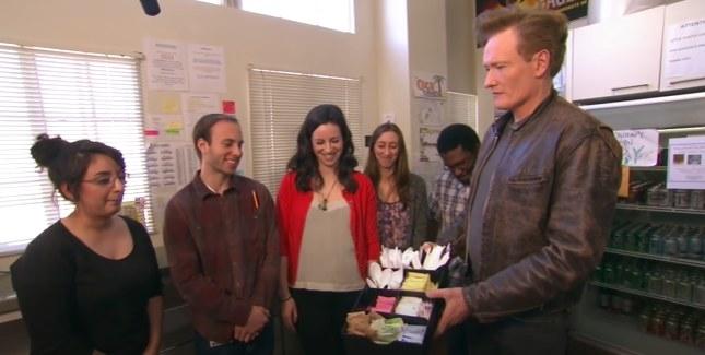 Conan and his interns
