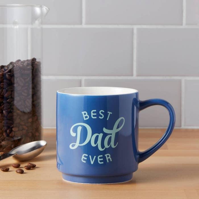 """""""Best Dad Ever"""" blue mug"""