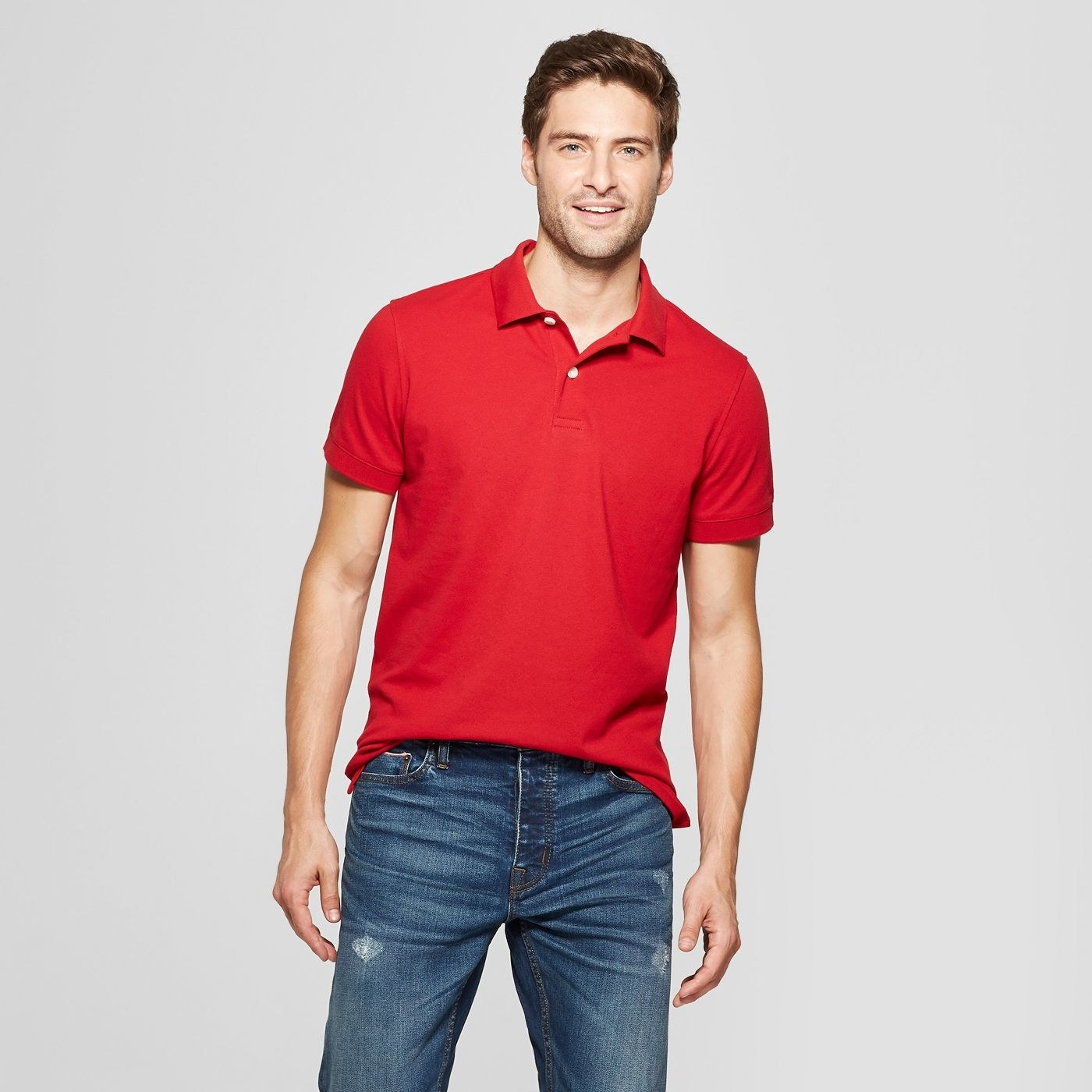 Men's polo shirt with two buttons