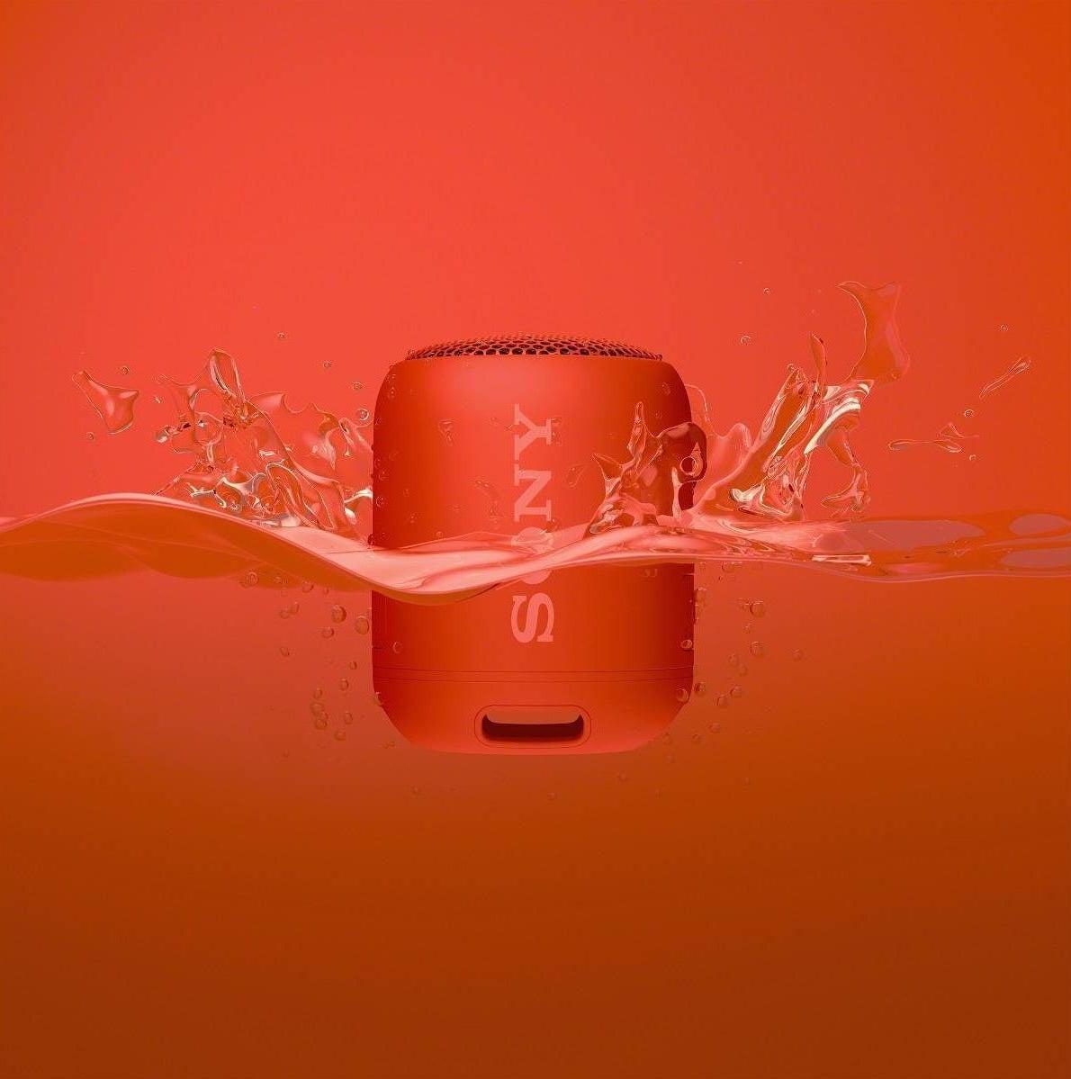 red sony wireless speaker