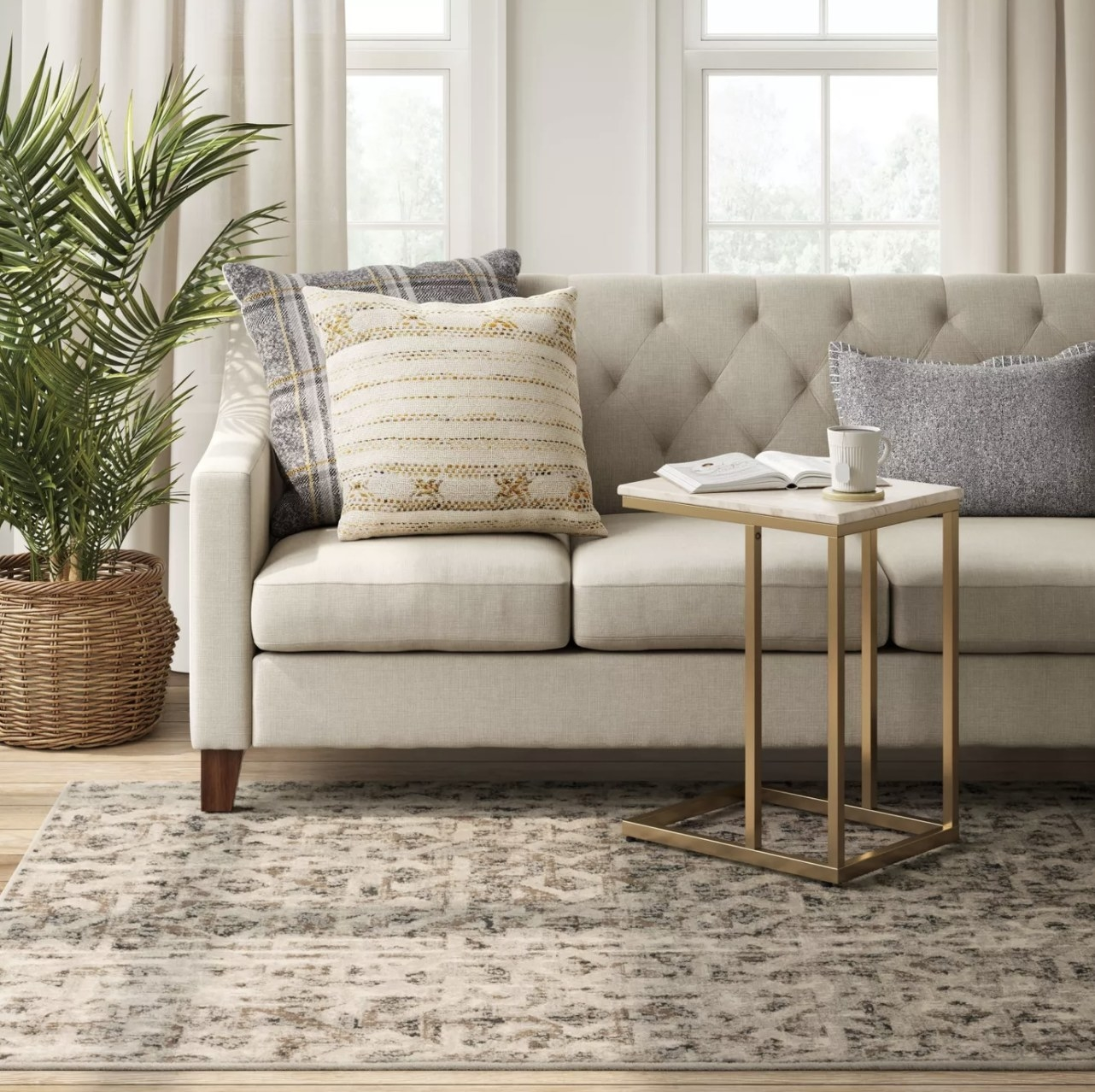 Carpet on the floor of living room