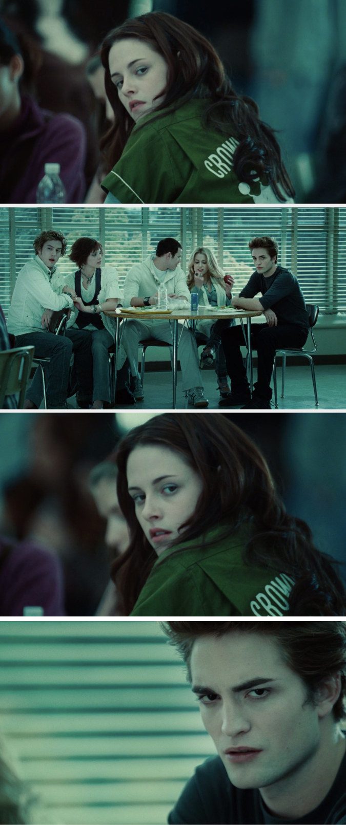 Bella and Edward just staring at each other