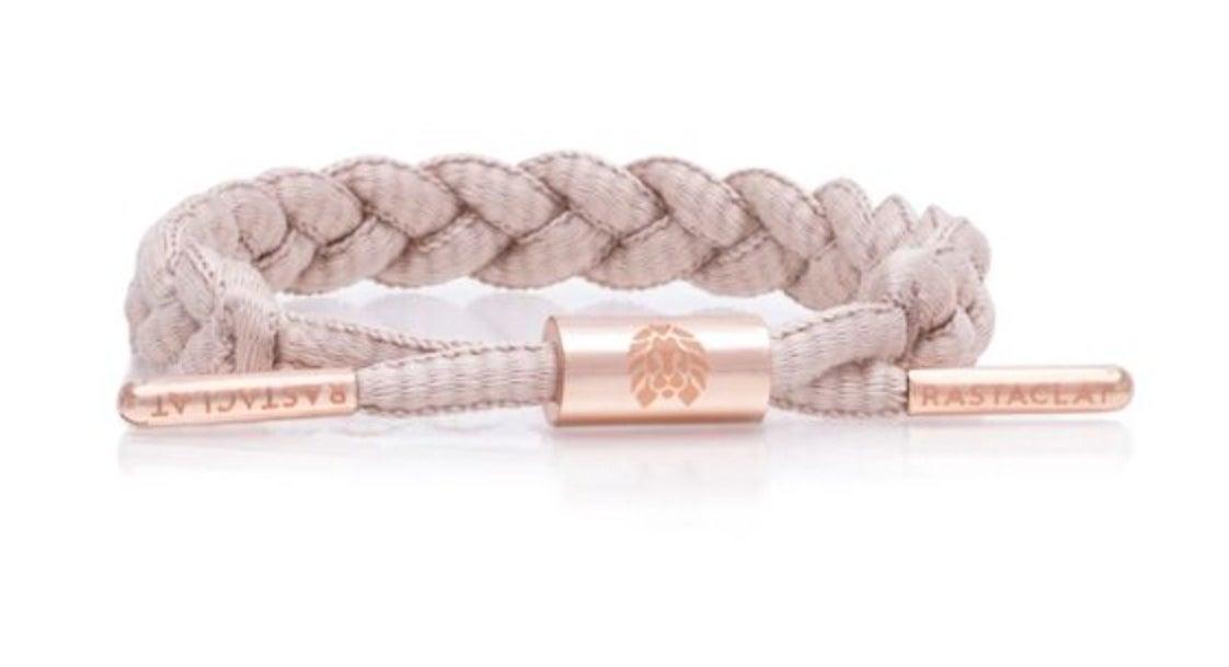 the rose gold braided bracelet