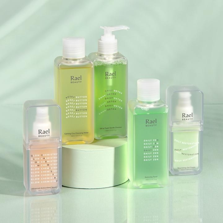 the complete skincare set on display