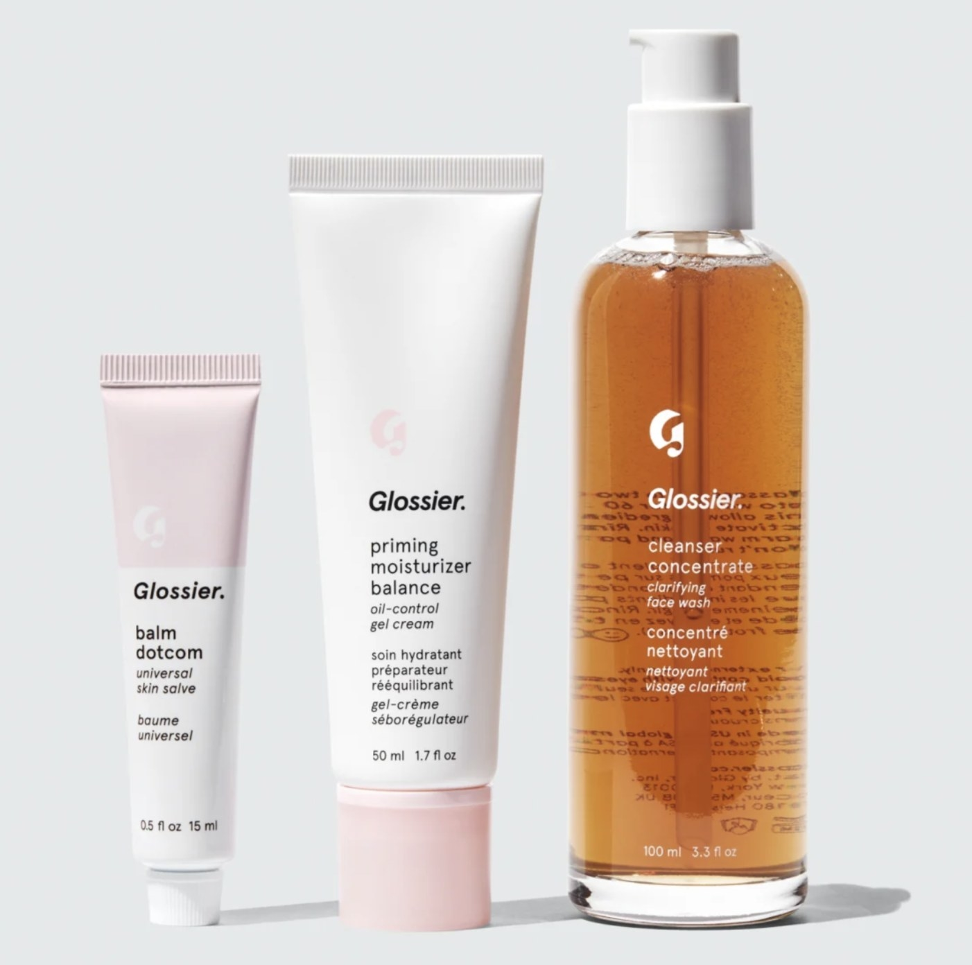 the products in the skincare set