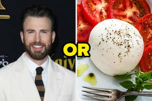 Chris Evans or burrata cheese