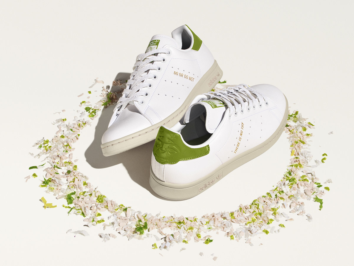 white sneakers with green accents