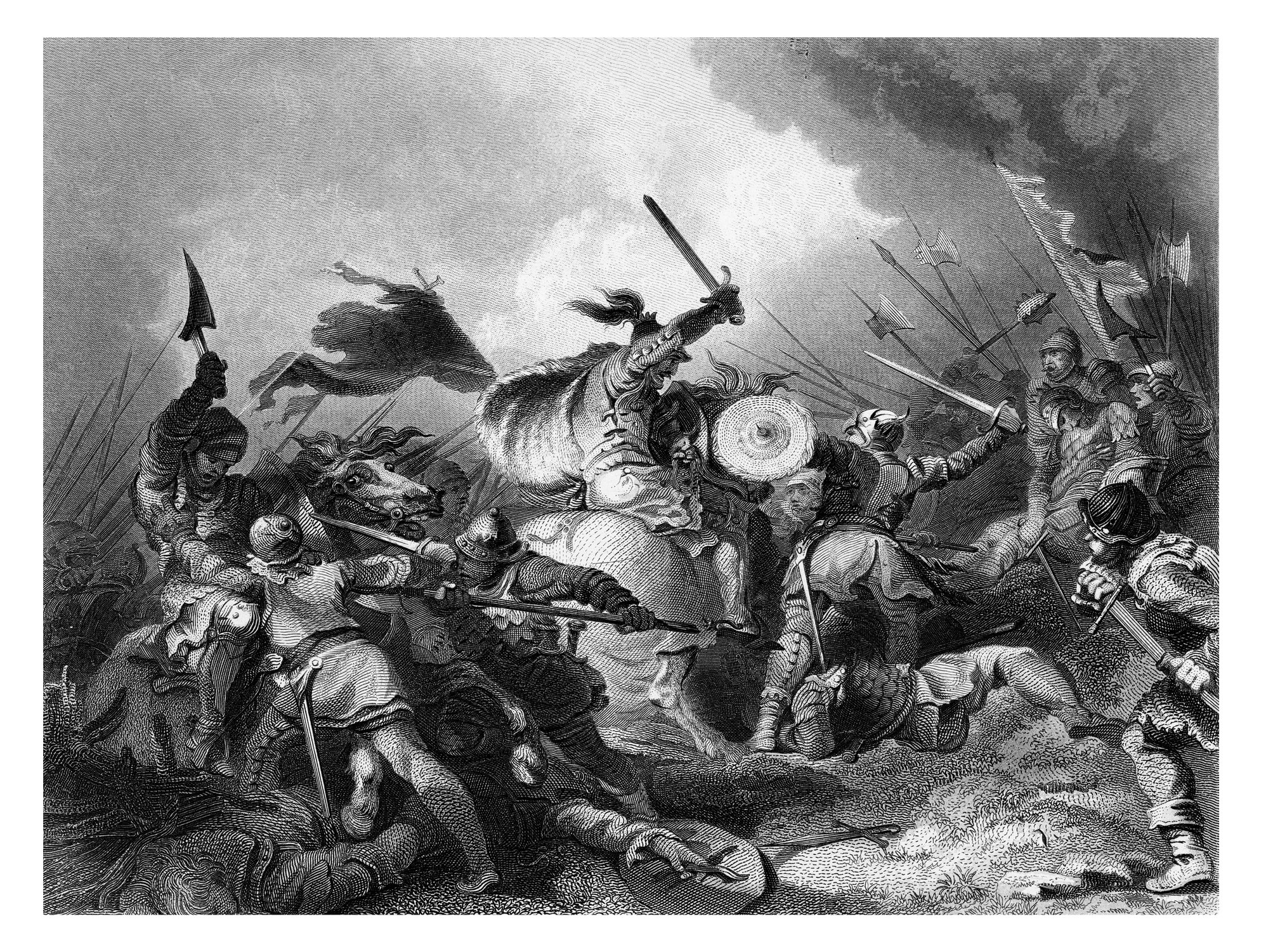 Getty image of fighting in black and white