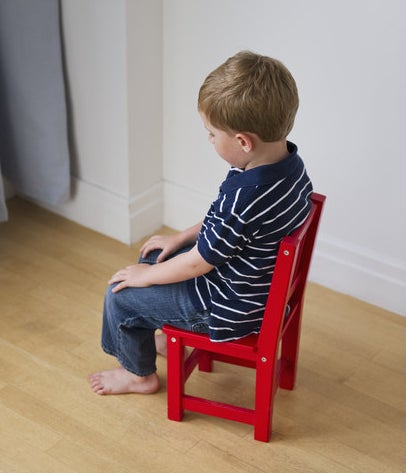 Getty image of a kid in time-out