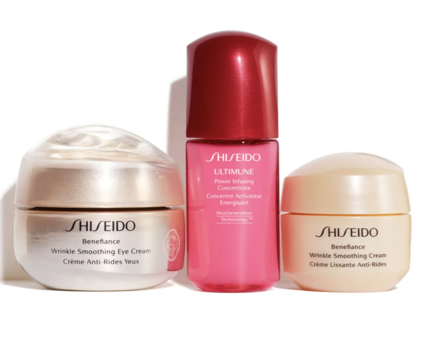 the three eye cream products