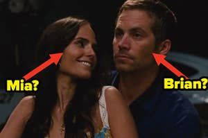 """Paul Walker as Brian O'Conner and Jordana Brewster as Mia Toretto in the movie """"Fast & Furious 6."""""""