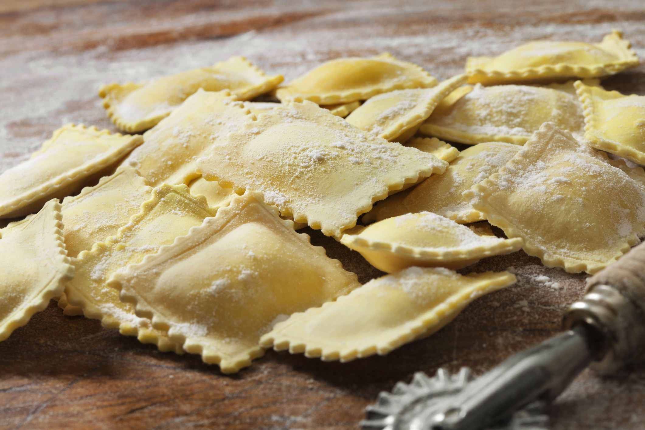 Ravioli before it's cooked