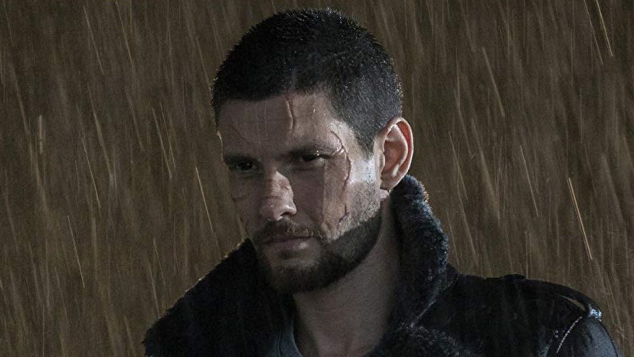 Ben Barnes in the rain
