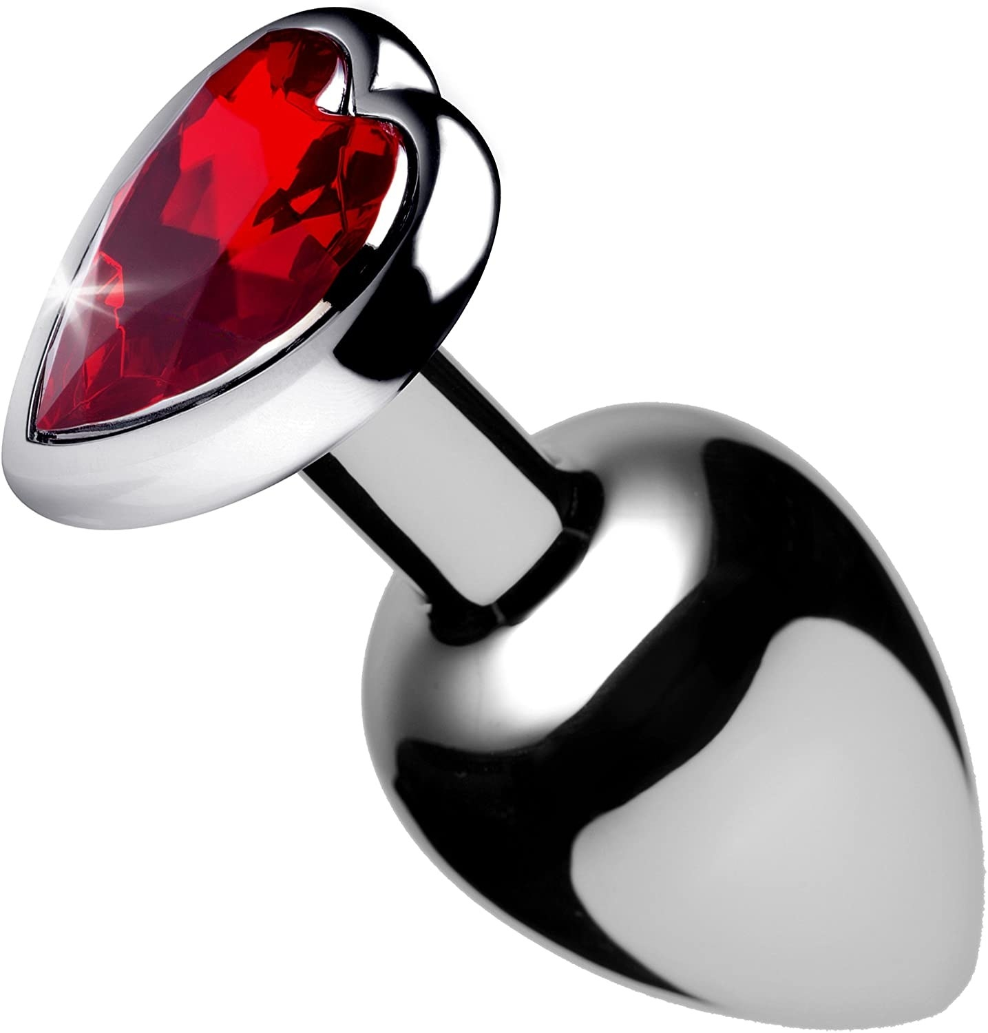 The metal butt plug with a red heart-shaped stone in the, uh, part that doesn't go in your butt.
