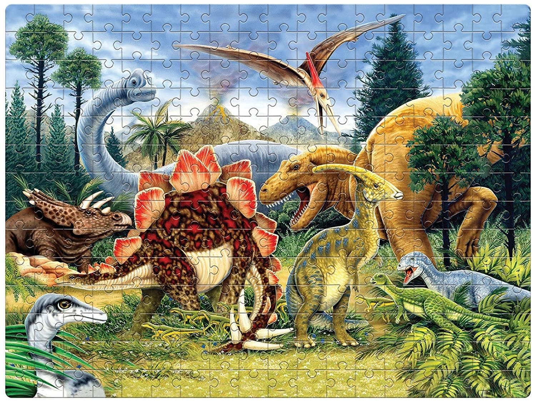 A 250-piece dinosaur themed jigsaw puzzle.